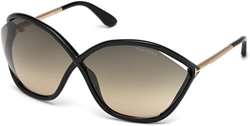 Tom Ford FT0529 01B Black FT0529 Round Sunglasses Lens Category 2 Size - And Tom Bella