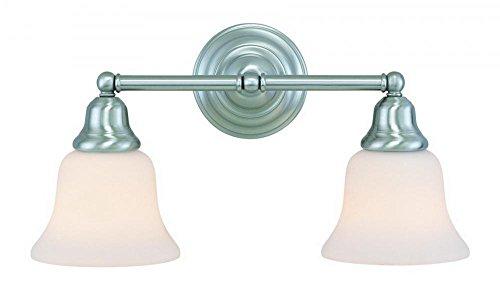 Dolan Designs 492-09 Brockport 2 Light Bathroom Fixture, Satin Nickel