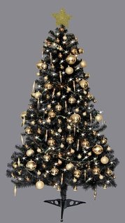 Attractive 6ft Deluxe Christmas Tree Black.