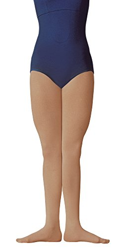 Body Wrappers C80 Girls Supplex Footed Tights (Medium/Large, Suntan) (Child Tights)