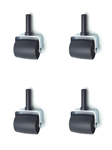 Heavy Duty Bed Frame Wheel/Roller/Caster with Socket Insert Cup (Pack of 4)