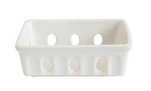- Creative Co-op Berry Bowl Decorative Stoneware Soap Dish