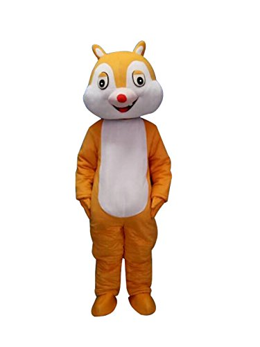 Sinoocean Chip and Dale Chipmunk Squirrel Mascot Costume Cosplay Fancy Dress Outfit (Dale) -
