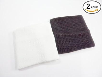 Amazon.com   2x Plain White Black Sports Sweat Bands Sweatband ... 2a29b1b3753