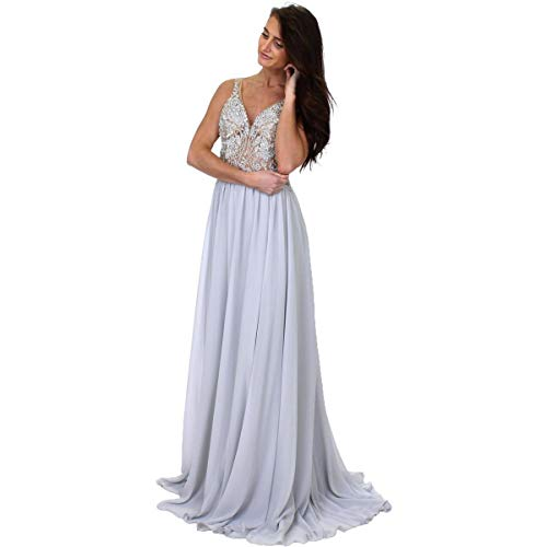 Terani Couture Prom Gown - Terani Couture Prom Beaded Evening Dress Silver 0