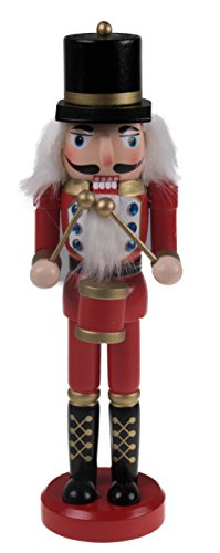 "Into The Woods Baker Costume (Classic Drummer Nutcracker | Traditional Red & Gold Uniform with Drum | Great Nutcracker for Any Collection | Classic Decorative Nutcracker | Perfect for Any Decor Theme | 100% Wood | 10"" Tall)"