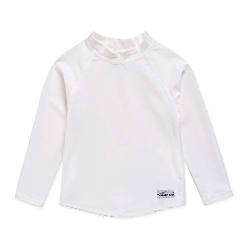 Vaenait baby Infant Kids Sun Protection Rashguard Long Sleeve Swim Shirt L.Oasis White S