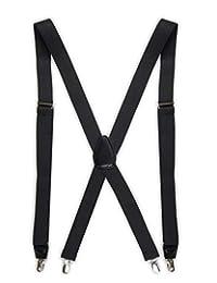 Dockers Men's Solid Suspender ,Black,