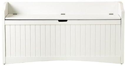 Beau Madison Lift Top Storage Bench, LARGE, WHITE