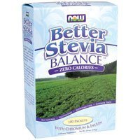 Stevia Balance Packets, 100 Pkts (Pack of 6) by Now Foods