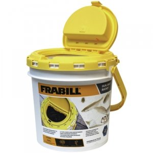 Frabill Dual Bait 1.3 Gallon Capacity Bucket With Built-i...