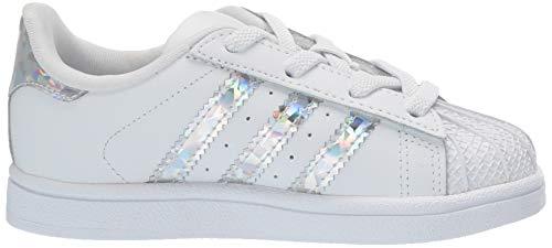 adidas Originals Unisex Superstar Running Shoe, White/White/White, 1 M US Little Kid by adidas Originals (Image #7)