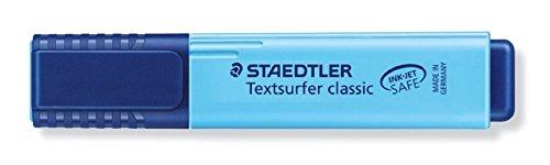 Staedtler Textsurfer Classic Highlighter Inkjet-safe Line Width 2.5-4.7mm Blue Ref 3646 [Pack 10]