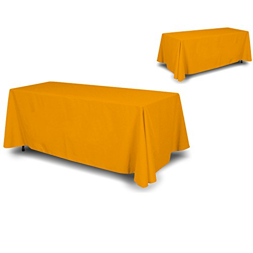 Wall26 - 4 Sided Full Back Yellow Tablecloth / Table Cover / Throw | Cloth Size 90
