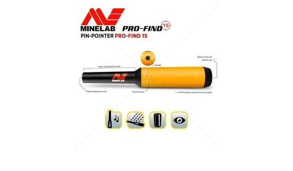 Minelab Pinpointer - Detector de Metales Pro-Find de 15 Pines con Funda para cinturón: Amazon.es: Jardín