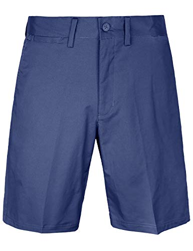 Men's Golf Shorts Relaxed Fit Cool Quick Dry Flat Front Tech Performance Chino Pants Size 34 Navy Blue