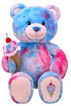 2010 Retired Build A Bear Workshop Bubblegum Baskin Robbins Unstuffed Teddy with Ice Cream Cone Accessory Plush Toy Animal (Cotton Candy Ice Cream Cones compare prices)