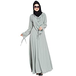Mushkiya Dress Abaya with Detatchable Shawl-Sea Green Burka Dress for girls, ladies, women, Burkha (ABU-025-Sea Green)
