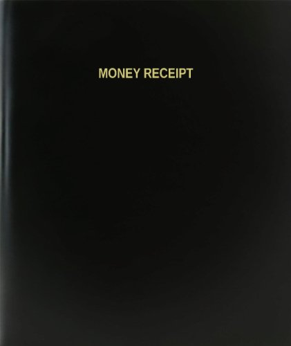 BookFactory® Money Receipt Log Book / Journal / Logbook - 120 Page, 8.5''x11'', Black Hardbound (XLog-120-7CS-A-L-Black(Money Receipt Log Book)) by BookFactory