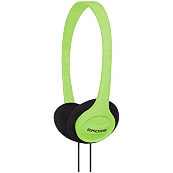 Koss KPH7G Portable On-Ear Headphone with Adjustable Headband - Green