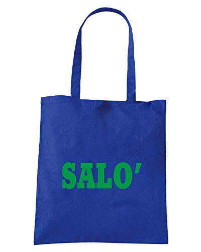 Borsa Shopper Royal Blu WC0989 SALO ITALIA CITTA STEMMA LOGO