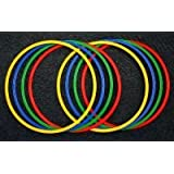 Set di 8 cerchi a sezione piatta, Ø 60 cm, 4 colori