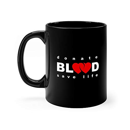 (Volunteer Donorship Healthcare And Medical Treatment Ual Icon Composed With Red Heart Shape Blood Drops Donation Milk Mug Cup Ceramic 11 Oz)