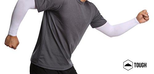 UV Protection Cooling Arm Sleeves - UPF 50 Long Sun Sleeves for Men   Women. 1da9b51c1