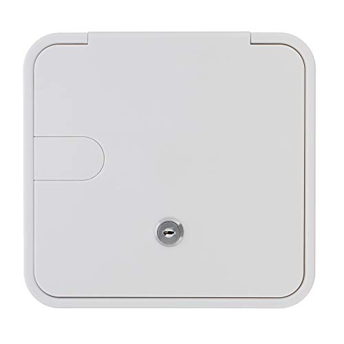 Electric Cable Hatch - Dumble Low Profile Electric Cable Hatch RV Electric Cord - White RV Camper Electric Cord Cover, 8