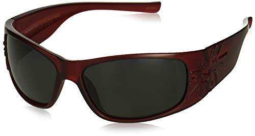 Black Flys Sonic 2 Floating Polarized Shield Sunglasses, Matte red, 65 mm