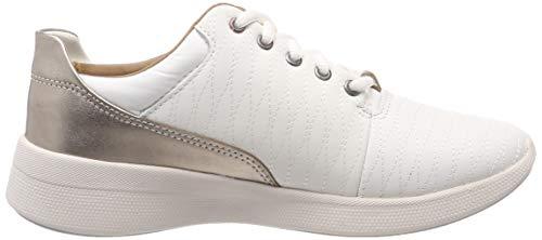 Femme Un White Derbys Lo Clarks Leather Alfresco Blanc Z8qRWOw