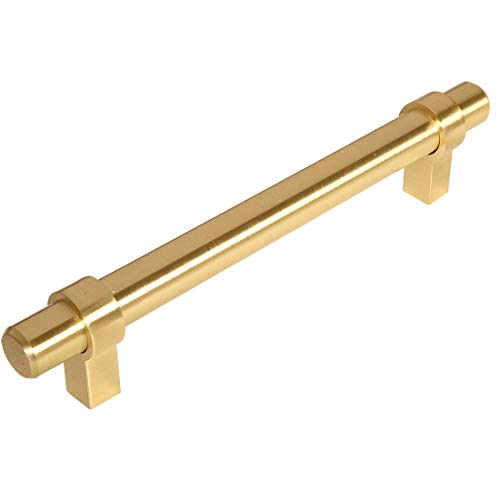 Cabinet Brass Contemporary (10 Pack - Cosmas 161-160BB Brushed Brass Contemporary Bar Cabinet Handle Pull - 6-5/16