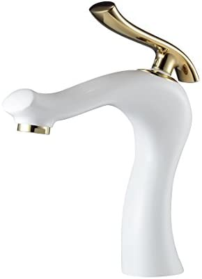 Bathroom Sink Faucets for Single Hole Brass One Handle Face Basin Faucet