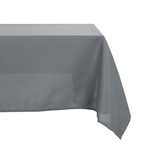 Deconovo Solid Oxford Decorative Square Water Resistant Tablecloth For Dining Room, 54x54-inch, Neutral Grey Square Rectangular Dining Tables
