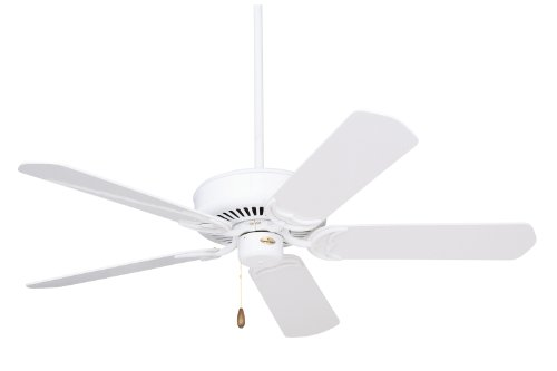 Emerson Fan Traditional Ceiling Oak - Emerson Ceiling Fans CF755WW Designer 52-Inch Energy Star Ceiling Fan, Light Kit Adaptable, Appliance White Finish