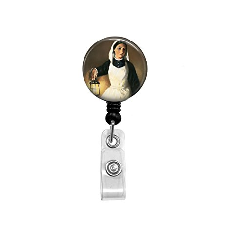 Badge Reel - Vintage Nurse Image - Retractable ID Holder - Nurse Art - Nurse Badge Reel - Veterans Nurse - Gift for Nurse - ID Holder