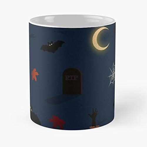 Halloween Pumpkin Horror Vector - 11 Oz Coffee Mugs Unique Ceramic Novelty Cup, The Best Gift For Halloween.]()