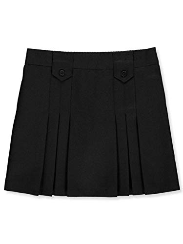 - French Toast Little Girls' Pleat & Tab Skirt - Black, 6X