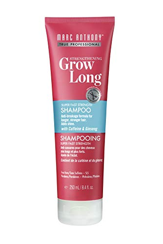 Marc Anthony Strengthening Grow Long Super Fast Strength 8.4 Ounce Tube, Sulfate Free Shampoo, Caffeine and Ginseng Infused Shampoo (Best Hair Product For Long Thick Hair)