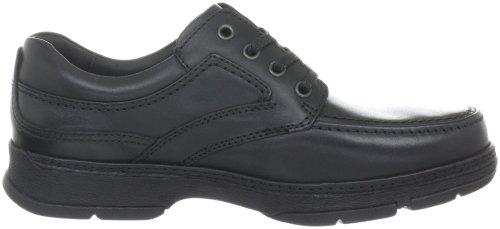 Clarks Star Stride 203256218 - Zapatos casual de cuero para hombre Negro (Schwarz (Black Leather))