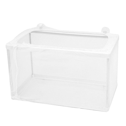 uxcell Nylon Mesh Aquarium Fishbowl Fish Fry Spawn Hatchery Separation Net Breeder Breeding Box 26 x 15 x 15.5cm (Fish Tank Fry Holder)