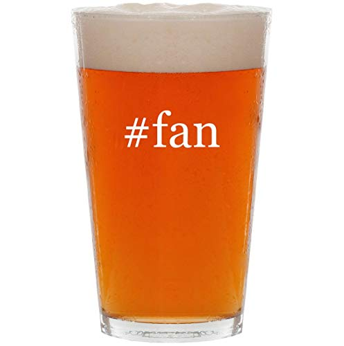 #fan - 16oz Hashtag Pint Beer Glass