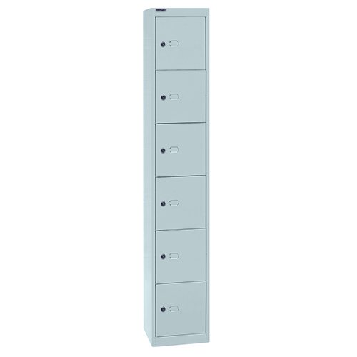 Bisley CLK126 180 cm Contract Locker 6 Door - Goose Grey CLK126-av4-grey