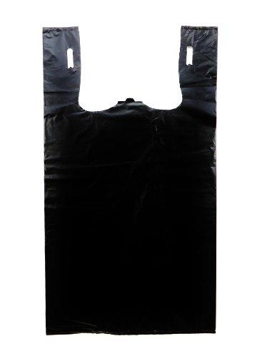 T-shirts Dog Retail Black - Plastic T-shirt Bag- Plain Black 11.5