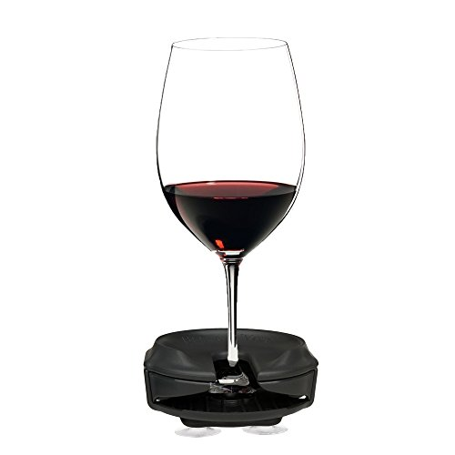 Boaters Wine Glass Holder by Bella D'Vine for Stemless & Stemmed glasses, Comes With a 3 Prong Suction Base for Boats, Sailboats, bath and Hot Tubs, Wine Gift in GRAPHITE GREY