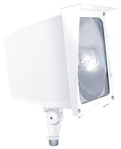 RAB Lighting EZHH150W/480 EZ Flood 150W Mh 480V HPF and Lamp, White