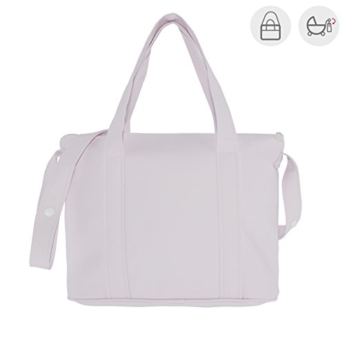 Cambrass Swarovski - Bolso maternal pocket, 10 x 42 x 30 cm, color blanco Rosa