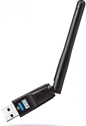 Qu + WiFi Stick, USB 2.0Adaptador en formato Mini para conexión a PC, portátil o receptor de satélite. El dispositivo es compatible con los IEEE 802.11N, 802.11g y IEEE 802.11B Estándares