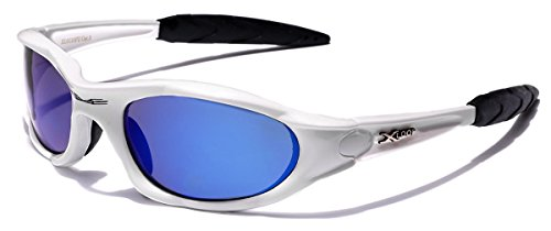 X-loop Designer Sunglasses (X-Loop Polarized Men's Wrap Around Sport Fishing Golf Cycling Sunglasses (White | Ice, Polarized))