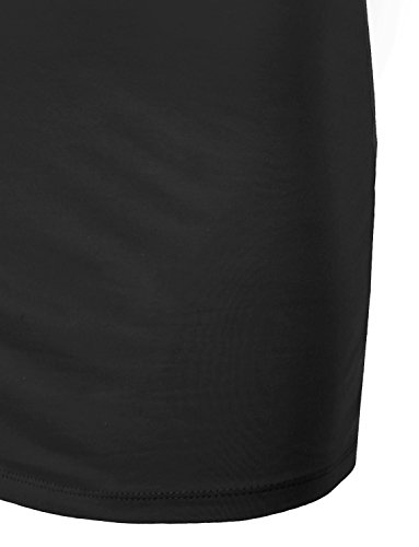 Tunic Spaghetti Womens Basic Colors black Top Jlwdr22 Dress 34 Fitted J Strap LOVNY 5xtqEwvvY